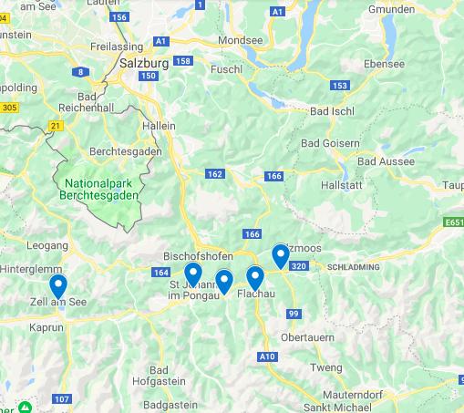 מקומות לינה במדינת זלצבורג