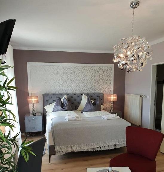 חדר שינה ב-Pension Krakolinig